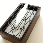 ティッシュケース おしゃれ 木製 ティッシュカバー アイアンティッシュケースボックス D