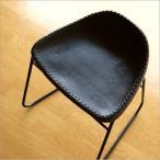 スツール アンティーク おしゃれ 椅子 いす イス チェア チェアー レザースツール アイアンと本革のスツールC
