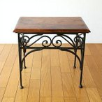 サイドテーブル 木製 おしゃれ ベッドサイドテーブル ソファサイドテーブル 花台 シンプル ナチュラル アジアン アイアンとシーシャムのネストテーブル M
