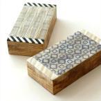 小物入れ ふた付き 宝箱 木製 アンティーク 収納ボックス レトロ ナチュラル おしゃれ 卓上 アクセサリーケース ボーンとウッドのボックス 2タイプ