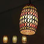 ペンダントライト ガラス アンティーク おしゃれ LED対応 ペンダント照明 北欧 レトロ キッチン ダイニング モザイクガラスのペンダントライト D 4カラー