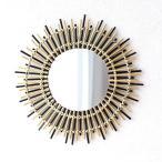 鏡 壁掛けミラー バンブー 竹 おしゃれ ナチュラル アジアン エスニック ウォールミラー 丸型 丸い 円形 サークル ラウンド バンブーサークルミラー