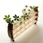 一輪挿し 木製 おしゃれ 花瓶 花びん インテリア 花器 ガラス管 試験管 天然木 デザイン フラワーベース moon-5 フラワースタンド