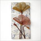 アートパネル 壁飾り アートフレーム 壁掛け インテリア 壁 壁面 お花 ディスプレイ ウォールデコ おしゃれ モダン アンティーク アイアンのフラワーパネル C