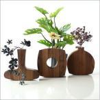 花瓶 花びん 一輪挿し 花器 ウッディーなユラユラベース ウォルナット