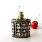 香水瓶 パフュームボトル 香水入れ アンティークゴールドのパフュームボトル C
