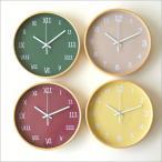 壁掛け時計 壁掛時計 掛け時計 掛時計 かわいい パステルカラー おしゃれ 木製 ウォールクロック 北欧 カフェ シンプル ナチュラル カラフル掛け時計 4タイプ