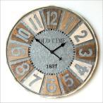壁掛け時計 壁掛時計 掛け時計 掛時計 大きい 直径80cm アンティーク ヴィンテージ おしゃれ 木製 スチール レトロ ウォールクロック ビッグな掛け時計