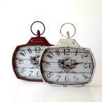 壁掛け時計 壁掛時計 掛け時計 掛時計 アンティーク ヴィンテージ クラシック おしゃれ アンティークなウォールクロック シャビースクエア2カラー