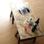 ローテーブル 木製 レトロ 家具 アンティーク ソファテーブル リビングテーブル 店舗什器 折りたたみテーブル シャビーシックなフォールディングテーブル