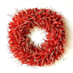 クリスマスリース 赤 レッド おしゃれ 葉 ドライフラワー リース 玄関 直径53cm 大きい シンプル ナチュラル ドライマンゴーリーフリース