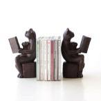 ブックエンド おしゃれ かわいい 本立て 本立 ブックスタンド 猫 ねこ 雑貨 置物 置き物 CDスタンド 卓上 収納 インテリア ディスプレイ ネコのブックエンドB