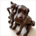 犬 猫 置物 オブジェ インテリア 置き物 いぬ イヌ ねこ ネコ 雑貨 キャット&ドッグの仲良し置物