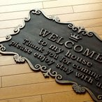 玄関マット 屋外 おしゃれ welcome ウェルカム アンティーク 玄関マット メッセージ