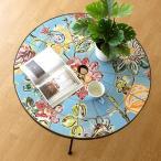 ガーデンテーブル タイル おしゃれ アイアン 鉄 円形 丸型 丸テーブル お庭 エクステリア ベランダ テラス ガーデンテーブル モザイクフラワー