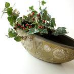 花瓶 花びん おしゃれ 口が広い デザイン フラワーベース 花器 陶器のベース ボルCG