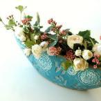 花瓶 花びん おしゃれ 口が広い デザイン フラワーベース 花器 陶器のベース ボルLB