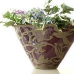花瓶 花びん おしゃれ 陶器 口が広い フラワーベース 花器 陶器のベース オーキッドバード
