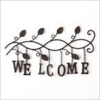WELCOME 玄関 ドア サインボード サインプレート アンティーク風 ウェルカム アイアンの壁飾り サイン