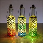 インテリアランプ モザイクガラス 照明 ライト かわいい 可愛い おしゃれ 卓上 テーブルランプ カラフル アンティーク LEDモザイクボトル ダイヤ3カラー