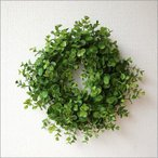 ユーカリリース 玄関 リース 造花 おしゃれ ナチュラル インテリア 壁掛け 人工観葉植物 フェイクグリーンの壁飾り ユーカリのリース