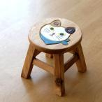 スツール 木製 椅子 ベビーチェア 子供椅子 スカーフ白ネコさん