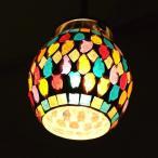 ペンダントライト ガラス おしゃれ かわいい 可愛い モザイク 1灯 シーリングライト 天井照明 トイレ キッチン モザイクハンギングランプ サークルティアー