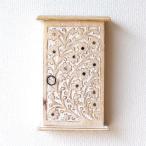 キーボックス 壁掛け おしゃれ 玄関 インテリア かわいい ナチュラル 鍵収納 鍵掛け 木製 スリム コンパクト ウッド壁掛けキーボックス フローラ