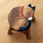 スツール 木製 椅子 いす イス ミニスツール 玄関 花台 ミニテーブル ウッドチェア おしゃれ 子供椅子 まる丸ネコさん