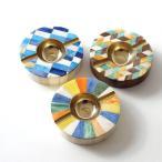 灰皿 おしゃれ 卓上 カラフル デザイン レトロ アンティーク 真鍮 シーシャムウッド ボーンのサークルアッシュトレイ 3タイプ