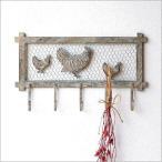 フック 壁掛け 5連 アンティーク レトロ おしゃれ かわいい にわとり ニワトリ 鳥 雑貨 ウォールフック 玄関 壁 キーフック 鍵掛け 鍵かけ チキンガーデンフック