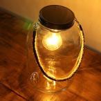 LEDライト おしゃれ ガラス 電球 照明 テーブルライト シンプル レトロ アンティーク LED付きガラスボトル ハンドル付き