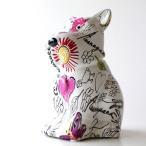 貯金箱 かわいい おしゃれ 陶器 いぬ 犬 可愛い 動物 アニマル インテリア オブジェ 置物 陶器のカラフル貯金箱 イヌ