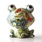貯金箱 おしゃれ かわいい 陶器 カエル 蛙 オブジェ 置物 可愛い インテリア 陶器の貯金箱 ボタニカルフロッグ