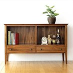リビングボード サイドボード 本棚 完成品 ディスプレイラック 無垢 アジアン家具 チークミドルフリーラック A