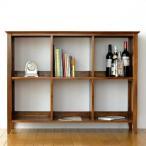 飾り棚 本棚 木製 オープンラック マガジンラック 雑誌 収納 無垢 アジアン家具 完成品 チークフリーシェルフ120
