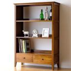 本棚 シェルフ ラック おしゃれ 収納 書棚 木製 無垢 アジアン家具 完成品 チークフリーラックH130