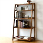 飾り棚 本棚 木製 書棚 オープンラック オープンシェルフ 完成品 無垢材 チークディスプレイラック
