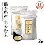 生姜粉末 50g×2袋 しょうが粉末 乾燥ショウガ  無農薬 熊本県産 無添加 国産 ジンジャーパウダー しょうがパウダー 温活 冷え対策