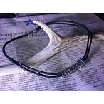 2連編込み黒レザー大きめローラーチューブネックレス クロス ネックレス メンズ