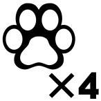 肉球 ステッカー かわいい シール 猫 雑貨 ねこ 用品 グッズ 車用 カッティングステッカー 猫 足跡 : 6cmサイズ 同色4枚セット 7色から選べる