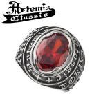 アルテミスクラシック Artemis Classic リング メンズ シルバー ストーンカレッジリング RD フリー 指輪 メンズリング