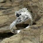 シルバーリング メンズ レディース 双頭の龍 ドラゴン オニキス 9-17号 ブランド 指輪 シルバー925 リング