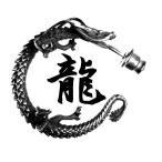シルバーピアス メンズ 龍 ryu ドラゴン ブランド メ