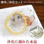 ヒマラヤ水晶 浄化セット 天然石 パワーストーン 水晶さざれ 水晶クラスタ...