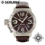 腕時計 メンズ ブランド シーレーン SE32 ブラウン 牛本革ベルト メンズ腕時計