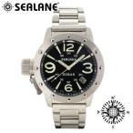 腕時計 メンズ ブランド シーレーン SE32 ブラック メタルベルト メンズ腕時計