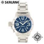 腕時計 メンズ ブランド シーレーン SE32 ブルー メタルベルト メンズ腕時計
