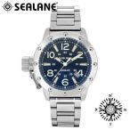 腕時計 メンズ ブランド シーレーン SE54 ブルー 自動巻き メタルベルト メンズ腕時計