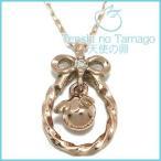 天使の卵 ネックレス レディース ゴールド ダイヤモンド リボン ピンクゴールド 天使の卵 レディースネックレス プレゼント